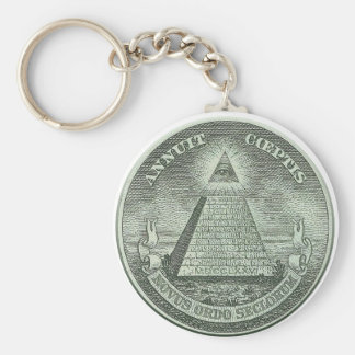 Illuminati - All seeing eye Basic Round Button Key Ring