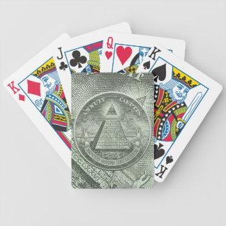 Illuminati - All seeing eye Bicycle Playing Cards