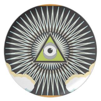 Illuminati All Seeing Eye NWO New World Order Plate