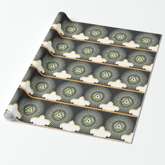 Illuminati All Seeing Eye NWO New World Order Wrapping Paper