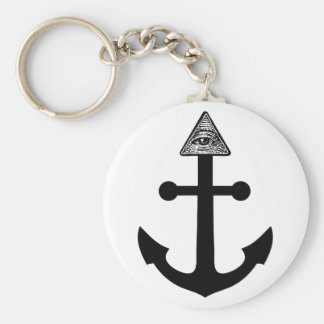 Illuminati Anchor Key Ring