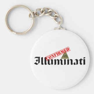 Illuminati Confirmed Basic Round Button Key Ring
