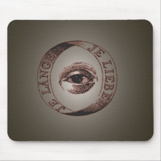 Illuminati eye mouse mat
