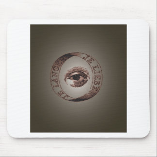 Illuminati eye mouse pad