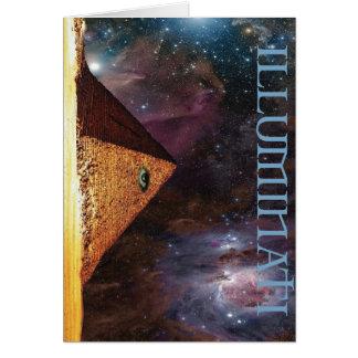 Illuminati Galactic Mystery Greeting Card