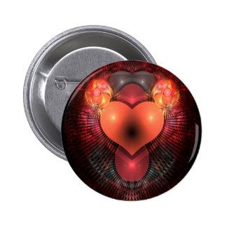 Illuminati Heart 6 Cm Round Badge