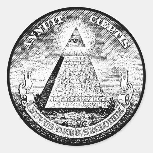 illuminati logo round sticker
