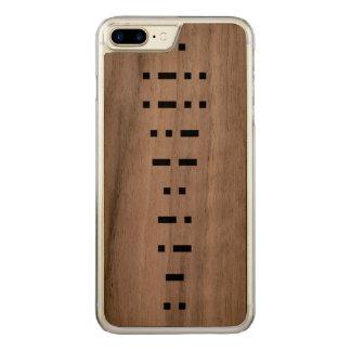 ILLUMINATI (morse code) Carved iPhone 7 Plus Case