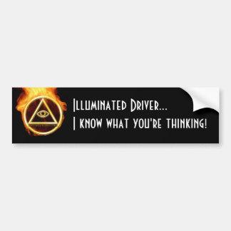 Illuminati on Fire Bumper Sticker
