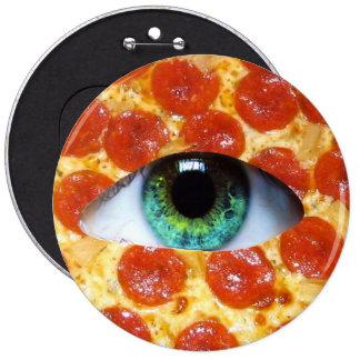 Illuminati Pizza 6 Cm Round Badge