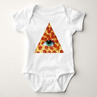 Illuminati Pizza Baby Bodysuit