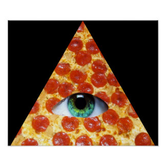 Illuminati Pizza Poster