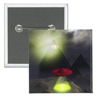 Illuminati Pyramid and UFO Button