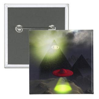 Illuminati Pyramid and UFO Button