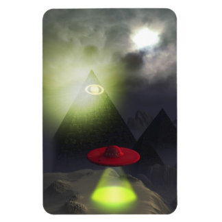 Illuminati Pyramid and UFO Premium Flexi Magnet