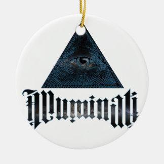 Illuminati Round Ceramic Decoration