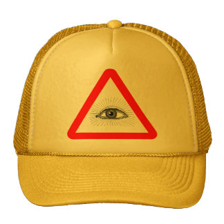 illuminati warning sign hat