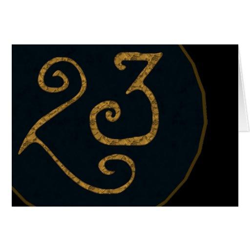 Illuminatigon 23 greeting card