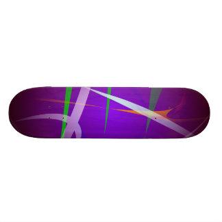 Illuminating Blue Purple Abstract Art Skate Boards