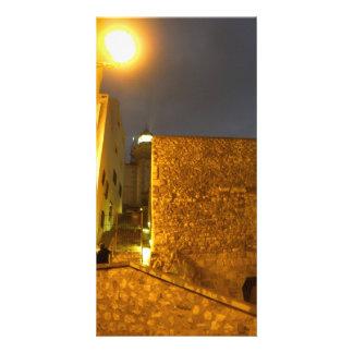 Illuminating the night photo card