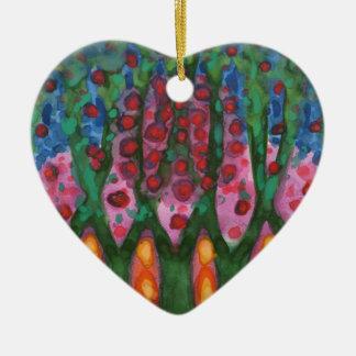Illumination Ceramic Heart Decoration