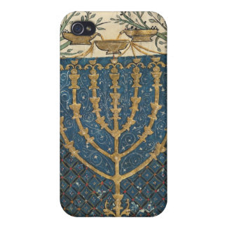Illumination of a menorah, from case for iPhone 4
