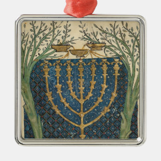 Illumination of a menorah, from christmas ornament