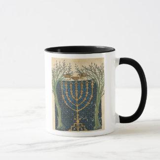 Illumination of a menorah, from mug