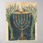 Illumination of a menorah, from poster
