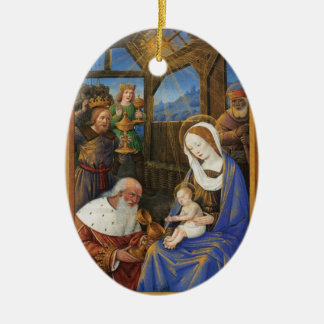 Illumination of the Adoration Christian Christmas Christmas Ornament