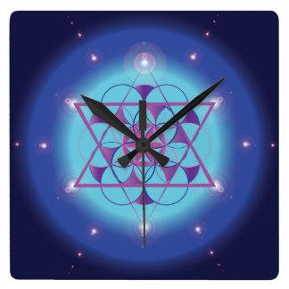 Illumination, sacred geometric hexagram wallclocks