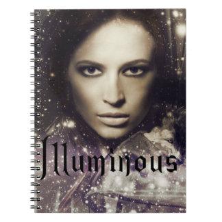 Illuminous book cover notebook