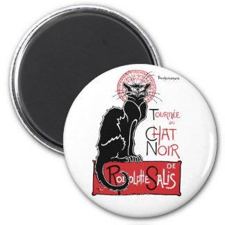 Illus Le Chat Noir 6 Cm Round Magnet