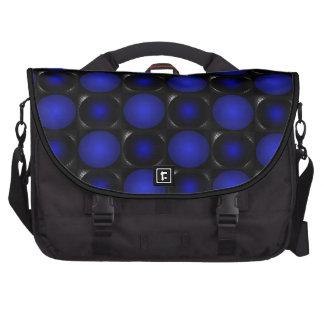 Illusion Blue Chessboard  3D Design Messenger Bag Laptop Bag