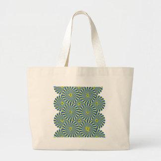 Illusion circle tote bag