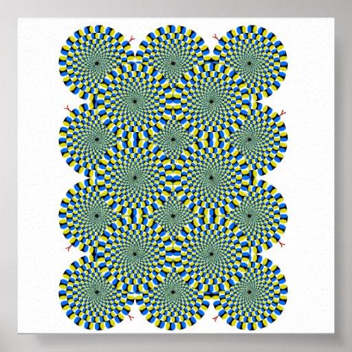 illusion circles poster
