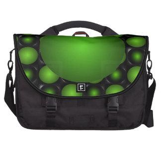 Illusion Green Chessboard Lime 3D Design Messenger Computer Bag