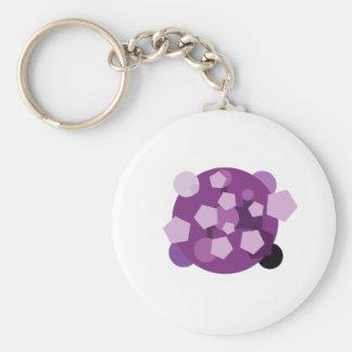 illusion basic round button key ring
