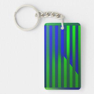 Illusion Single-Sided Rectangular Acrylic Key Ring