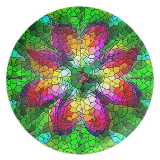 Illusion of Stained Glass Mosaic Design Plate