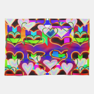 Illusion of the Hearts Kitchen Towels