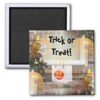 Illusionary Pumpkins with Tote Bag-Trick or Treat! Fridge Magnet