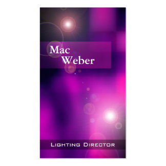 Illusions - Lighting Director Tech Lighting Design Business Card Template