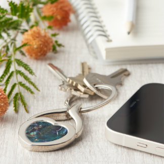 Illusions Silver-Colored Twisted Heart Key Ring