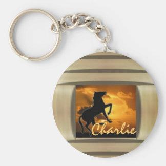 Illusive Stallion Monogrammed Keychains