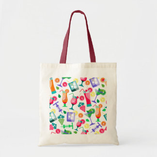Illustrated Alcohol Drinks Tote Bag