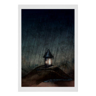 "Illustrated Art Poster ""Warm When It Rains"""