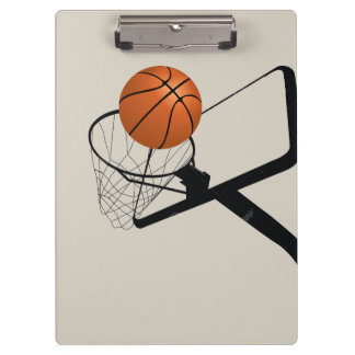Illustrated Basketball and hoop Clipboard