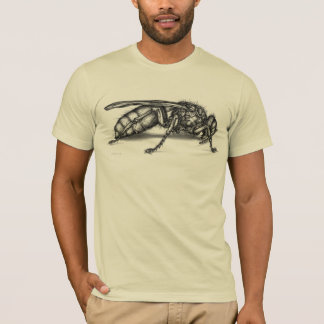 Illustrated Bee cream mens semi fitted tshirt