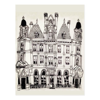 Illustrated Birmingham Building Postcard